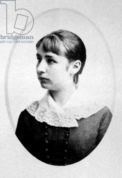 Camille Claudel (1864-1943) in 1878