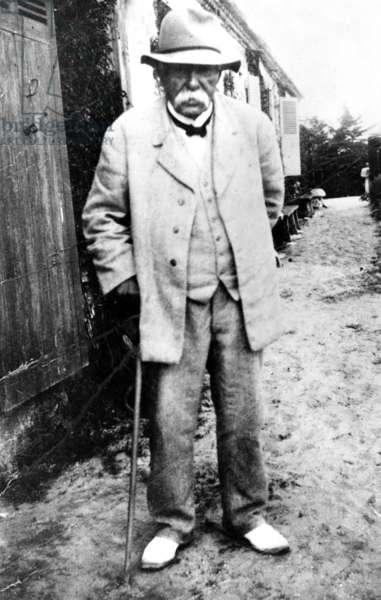 Georges Clemenceau (1841-1929) at Bel Ebat, his house at Saint Vincent du Jard in Vendee, France, c. 1925