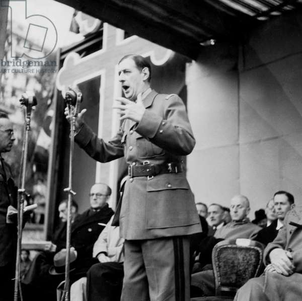 speech of General Charles de Gaulle in Algiers on november 11, 1943