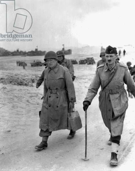 French general Philippe Leclerc de Hauteclocque on Utah Beach (in Saint Martin de Vareville) after the operations of the French armoured division Landings in Normandy on august 1st, 1944