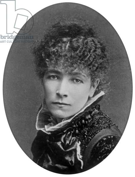 French actress Sarah Bernhardt (1844-1923) in 1877, photo by Nadar