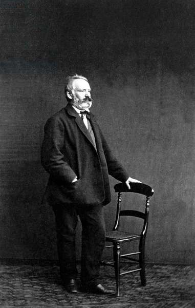 Victor Hugo (1802-1885) French writer, c. 1860, photo by Edmond Bacot