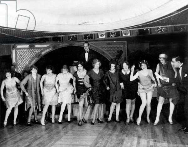 candidates of charleston dance contest in New York night club, january 1926