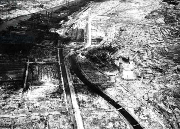 Ruins of Nagasaki in Japan after the atomic bomb august 9, 1945