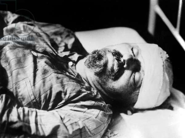 Body of Leon Trotsky on august 21, 1940 after is assassination by Ramon Mercader aka Jacques Mornard in Mexico