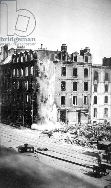 Allied bombings on Le Havre, Normandy, France, in 1941