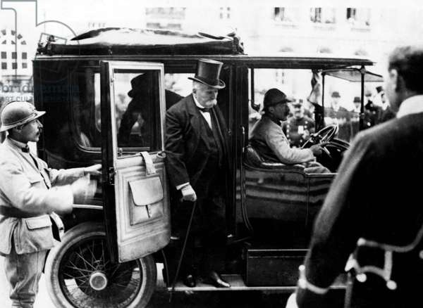 French president Georges Clemenceau in Versailles at the time of the signing of the Peace Treaty June 28, 1919 Allies Allied France