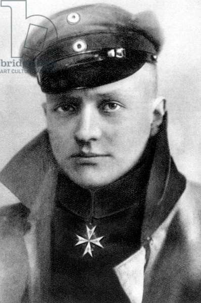 Manfred von Richthofen (1892-1918) german pilot during 1st world war, 1917
