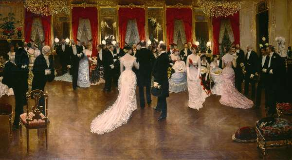 The ball, painting by Jean Beraud, 1878