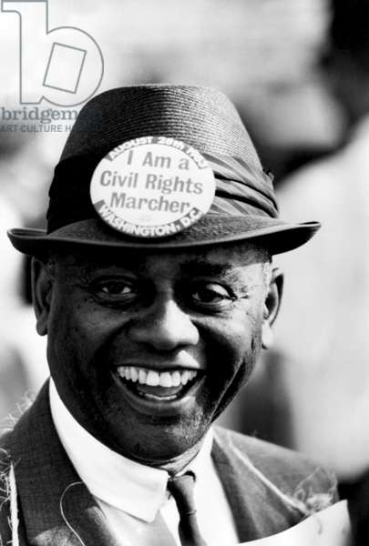 Civil Rights campaigner during the march on Washington august 28, 1963
