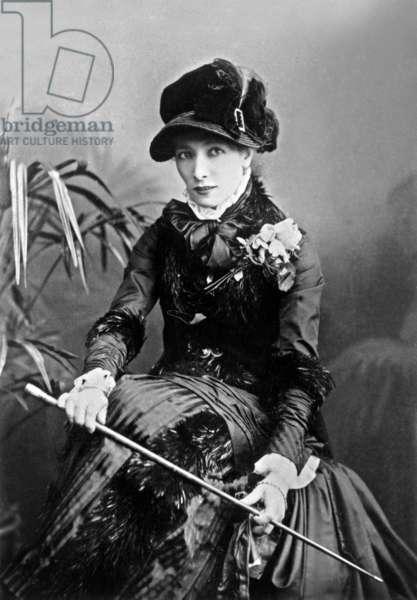 French actress Sarah Bernhardt (1844-1923) in Boston, 1891