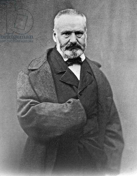 Victor Hugo (1802-1885) French poet and novelist, here c. 1860
