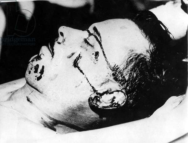 John Dillinger (d, 1903-1934) American bank robber here after his murder by FBI on july 22, 1934 near Chigago