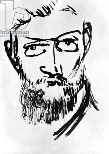Selfportrait by Henri Matisse (1869-1954) c. 1900