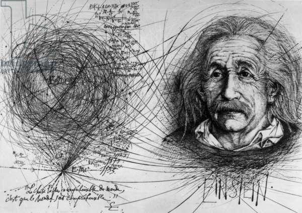 Albert Einstein, 1974 (litho)