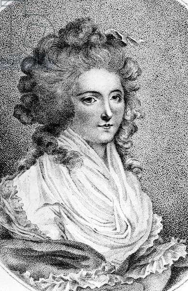 Seraphina Feliciani wife of Count of Cagliostro she was also member of the Freemasonry engraving