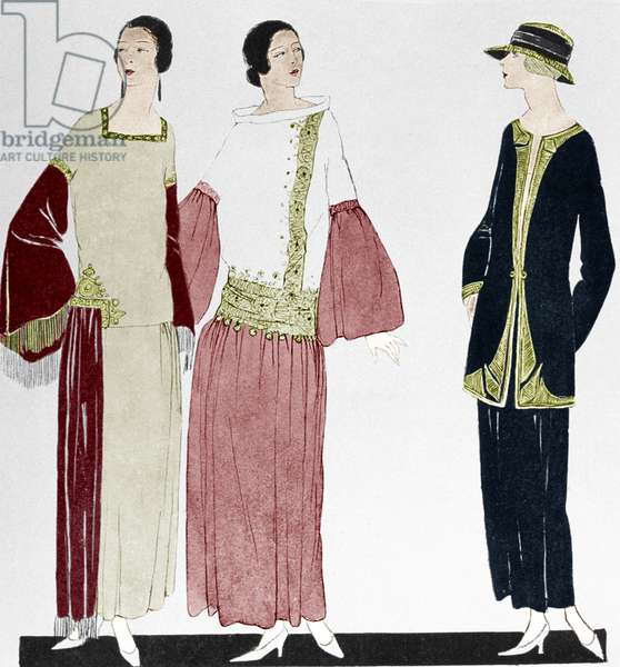 Fashion by Poiret in 1922, drawing