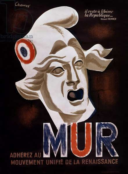 Poster encouraging French people to join MUR, 1945