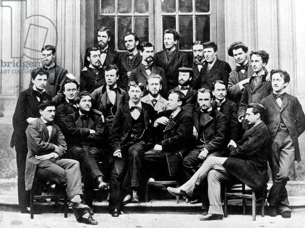 Henri Bergson (far r) and Jean Jaures (2nd left) in the 1878 class at primary teacher training college