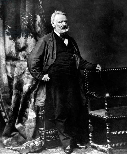 Victor Hugo (1802-1885) French poet and novelist, here in 1867