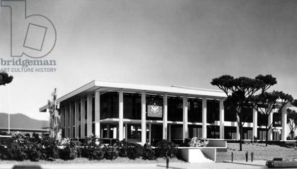 American embassy in Athens built by Walter Gropius in 1960 (Bauhaus style)