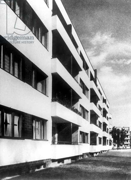 Building of Berlin - Siemensstadt built by Walter Gropius in 1929 (Bauhaus style)