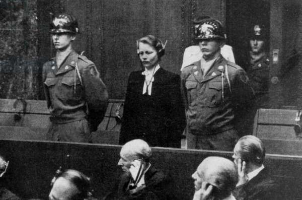 Nuremberg trial (1945-1946) : Herta Oberheuser (1911-1978), doctor in Ravensbruck concentration camp of women, is sentenced to 20 years of imprisonment because she made medical experiments on women of the camp