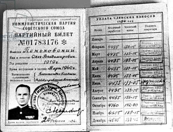 Card of member of soviet communist party 1941