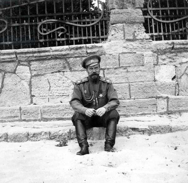 Czar Nicolas II of Russia in Eupotoria in Crimea may 16, 1916