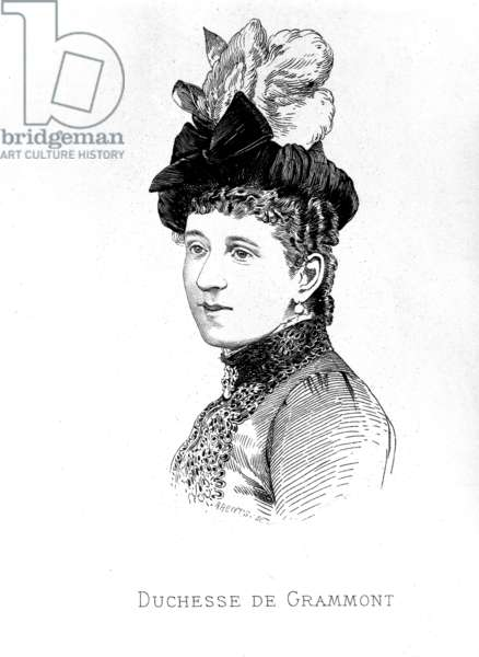 Marguerite de Rothschild (1855-1905) Duchess of Gramont, engraving, 1886
