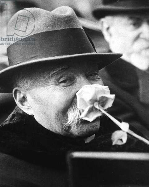 Georges Clemenceau (1841-1929) French politician Third Republic, here in USA in 1922