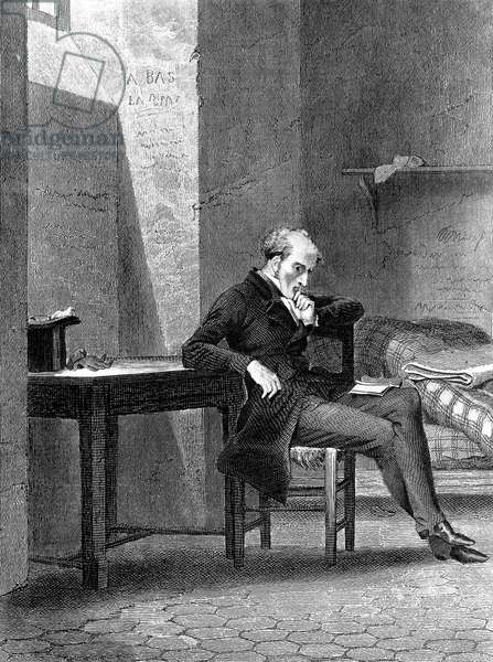 Francois Rene French writer, viscount of Chateaubriand (1768-1848) French writer, here in jail, engraving