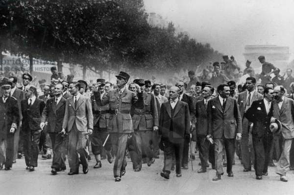 The Liberation of Paris, 26th August 1944 (b/w photo)
