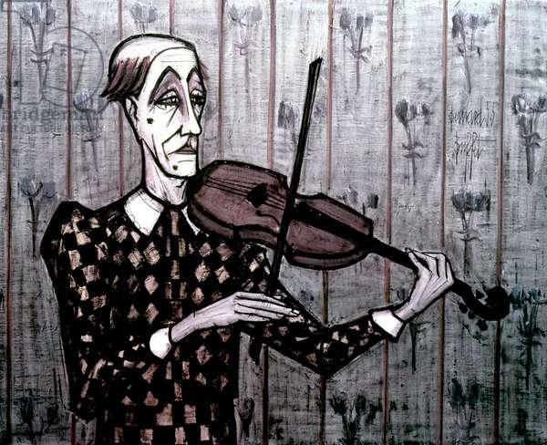 Violinist, 1955 (colour litho)
