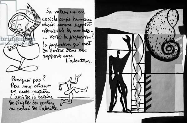 Poem written and illustrated by Le Corbusier, 1955 (litho)