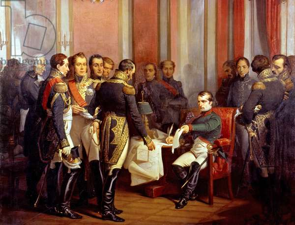 Abdication of French emperor Napoleon 1st on april 6, 1814, 1843
