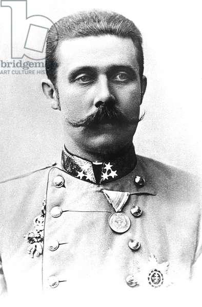 Archduke Franz Ferdinand of Austria (1863-1914) he will be murdered in Sarajevo Bosnia in 1914, c. 1904