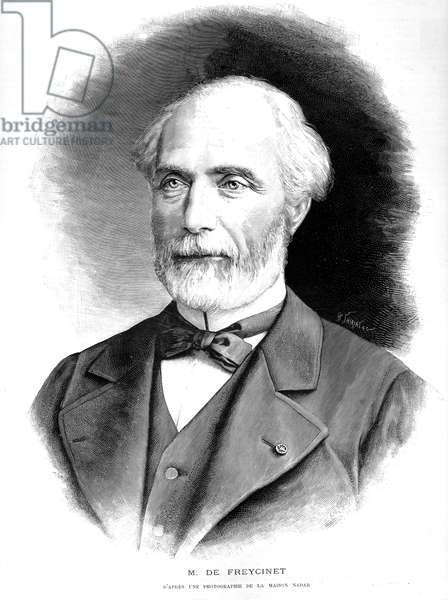 Charles de Freycinet (1828-1923) French politician physicist and engineer, engraving