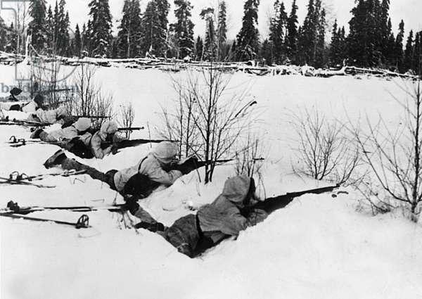 January 1940 : war between Russia and Finland near Mourmansk railway