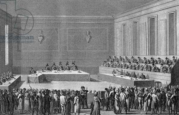 The Montagnard Convention, 31st May to 2nd June, 1793 (engraving)