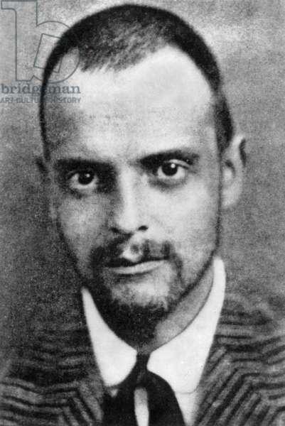 Paul Klee (1879-1940) german painter c. 1905 (b/w photo)