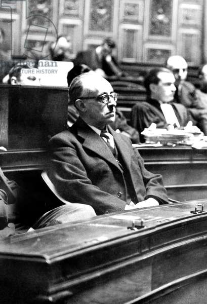 trial of Jacques Chevalier, secretary of state for public education during Vichy government march 11, 1946