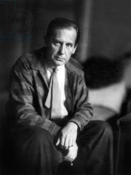 Walter Gropius (1883-1969) german architect, designer and town planner, founder of Bauhaus school, photo by M. Spencer 1924