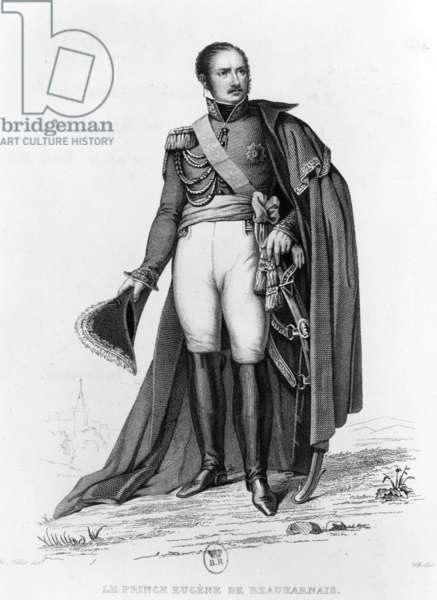 prince Eugene of Beauharnais (1781-1824 son of Josephine-de-Beauharnais and stepson of Napoleon1st) c.1810-1815, engraving by Challet after Fritz Millet