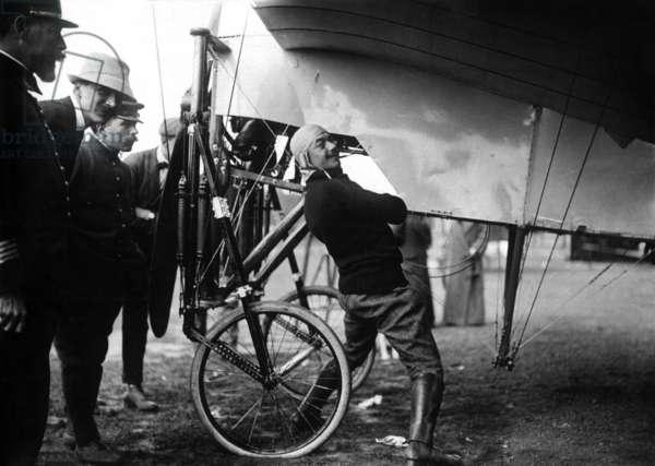 Celestin Adolphe Pegoud (1889-1915) French pilot during ww1