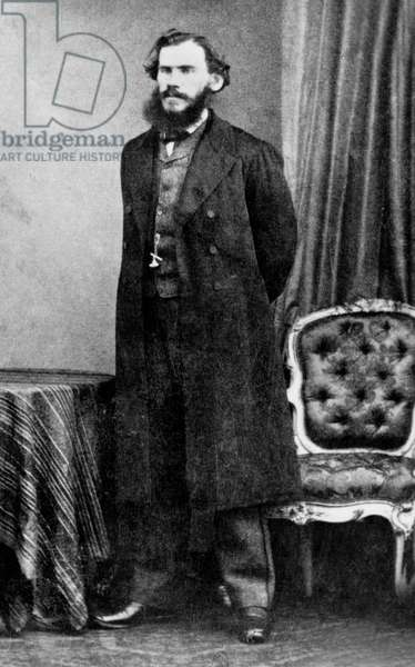 russian writer Leo Tolstoy in 1861