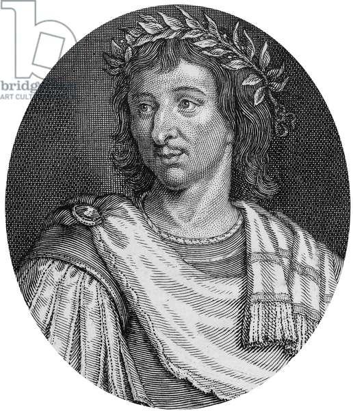 Cyrano de Bergerac (1619-1655) French poet , engraving