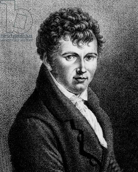 Alexander von Humboldt (1769-1859) german naturalist, traveler, and statesman; engraving by Rosmaster