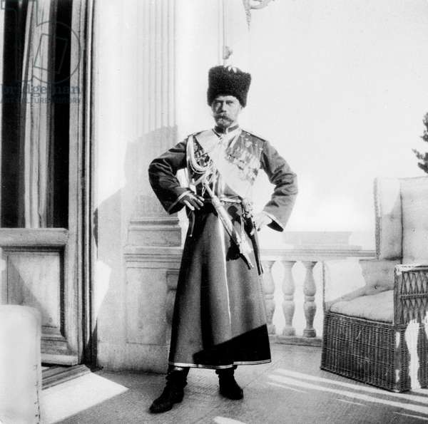 Czar Nicolas II of Russia (1868-1918) in Givadia october 04, 1913