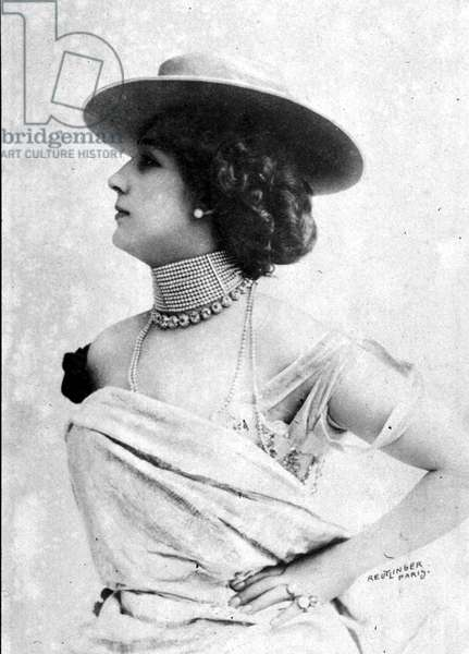 Carolina Otero aka La Belle Otero (1868-1965) spanish courtesan and dancer